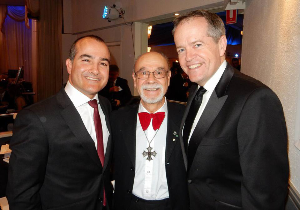 Hon. James Merlino MP, Marcello D'Amico, Hon. Bill Shorten MP